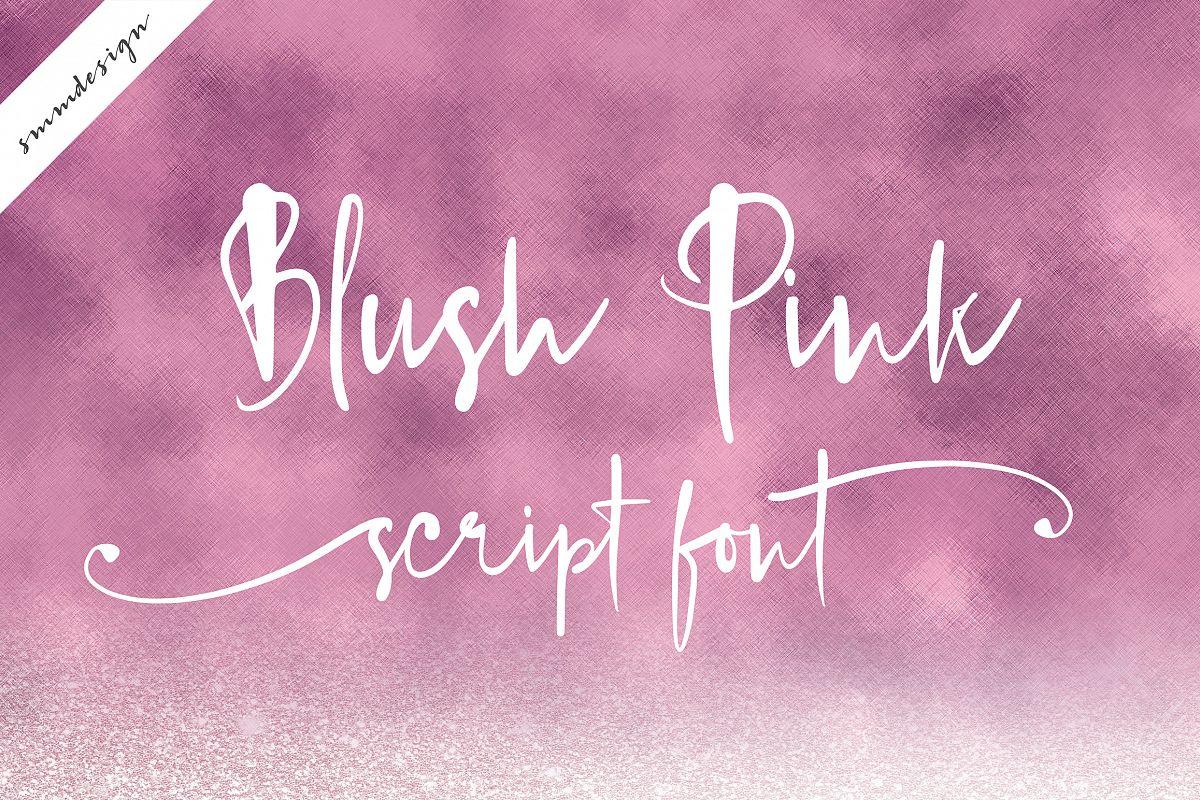 Blush Pink Handwritten Script Font example image 1