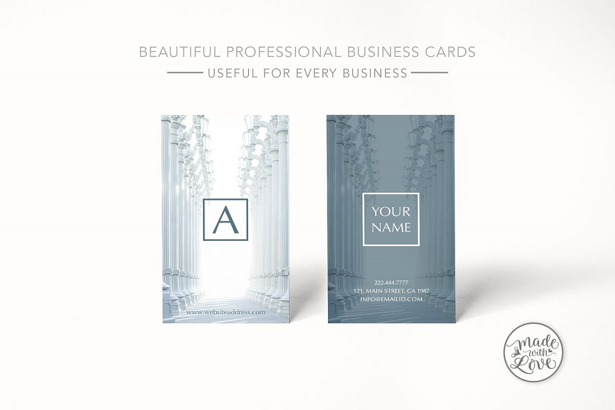 Beautiful rich texture business card example image 1