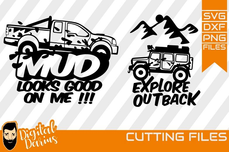 2x Offroad Car SVG, Explore , Hobby dxf, 4x4 svg, Adventure example image 1