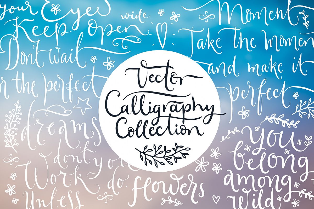 Vector Calligraphy Collection example image 1