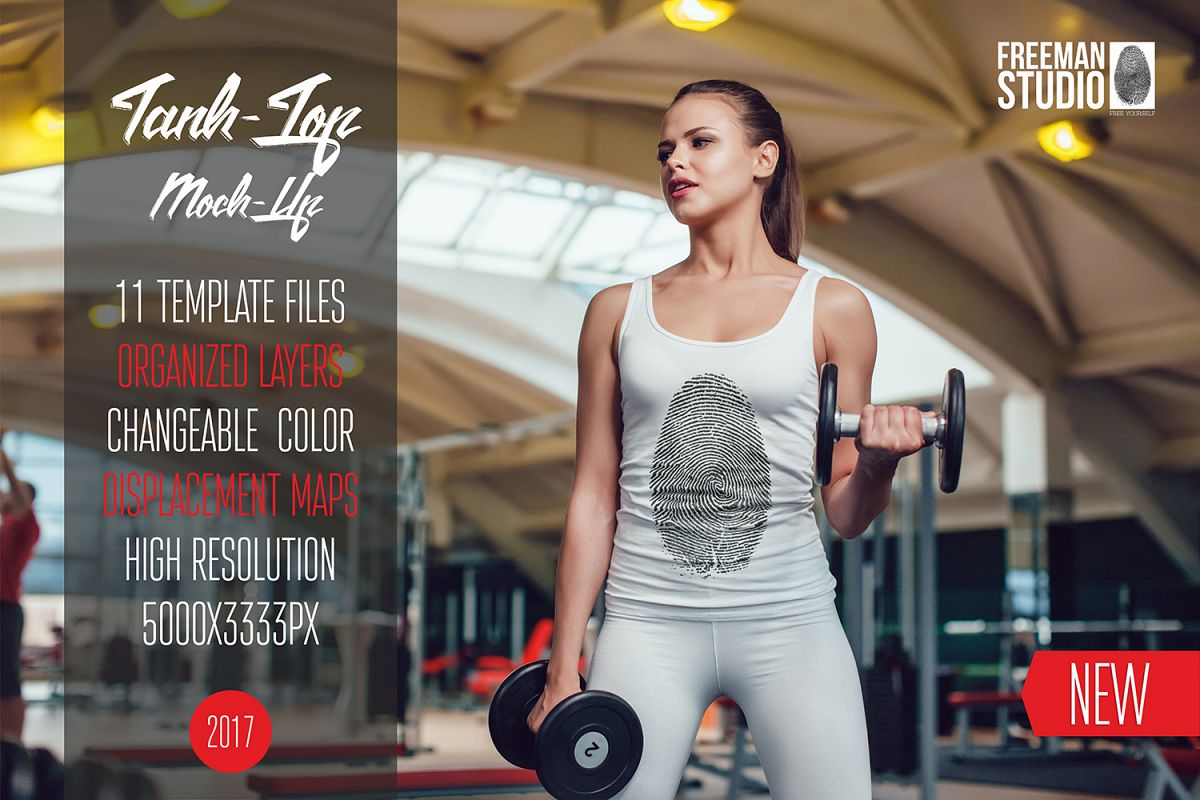 Sport Tank-Top Mock-Up Vol.1 2017 example image 1