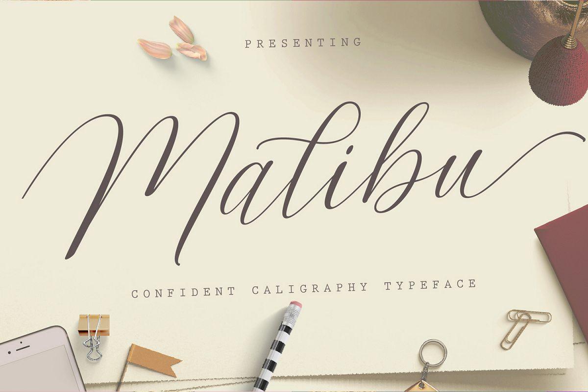 Malibu Script example image