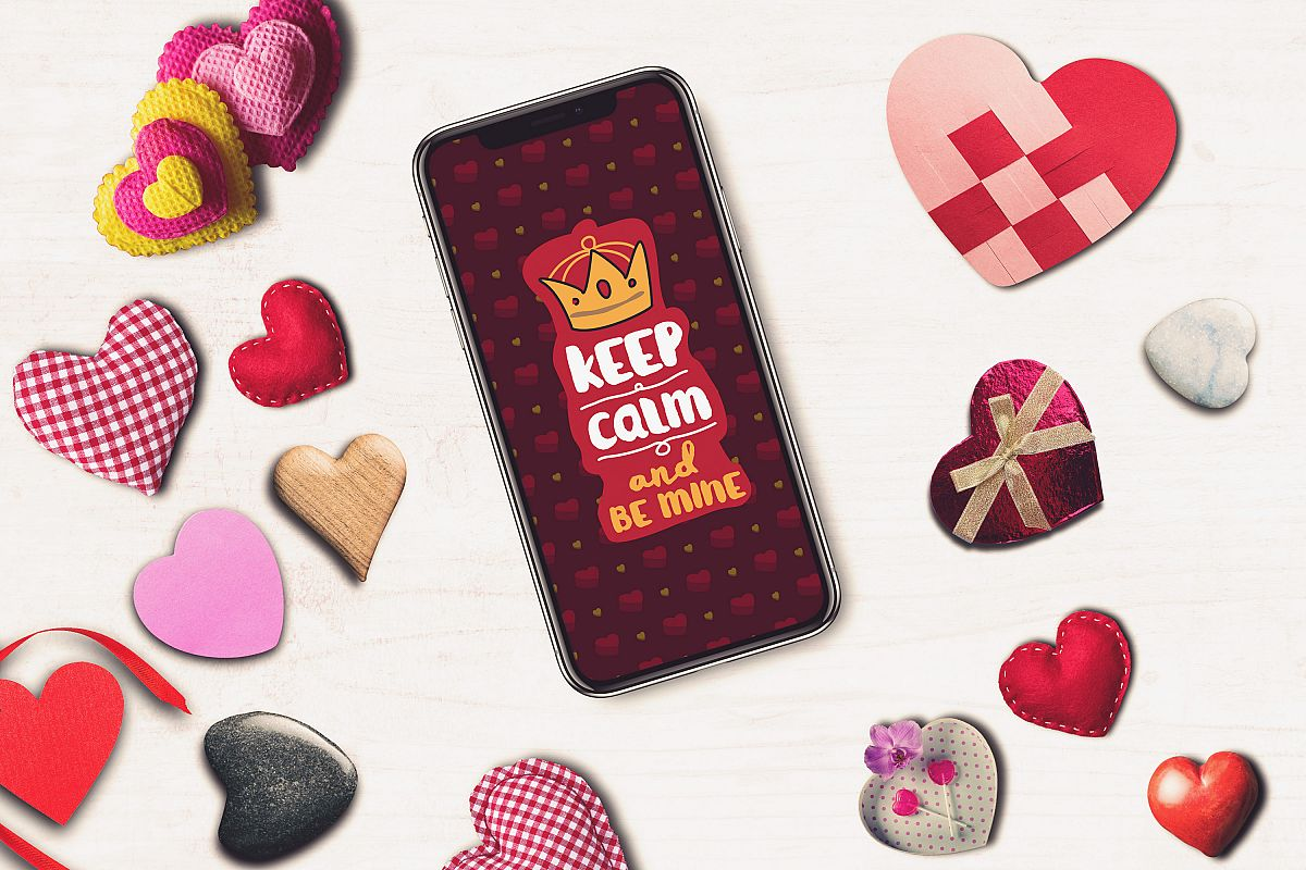 Valentine Iphone X Screen Mock-up #5 example image 1