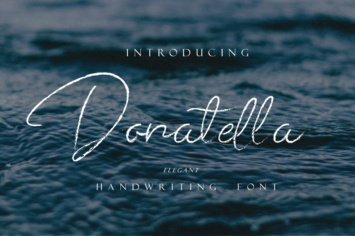 Donatella - Handwritten Font example image 1