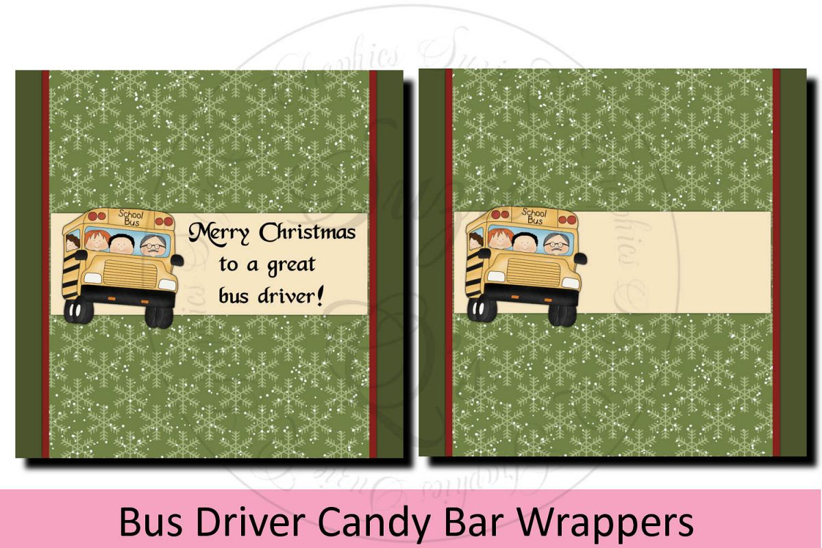 School Bus Driver Candy Bar Wrapper example image 1