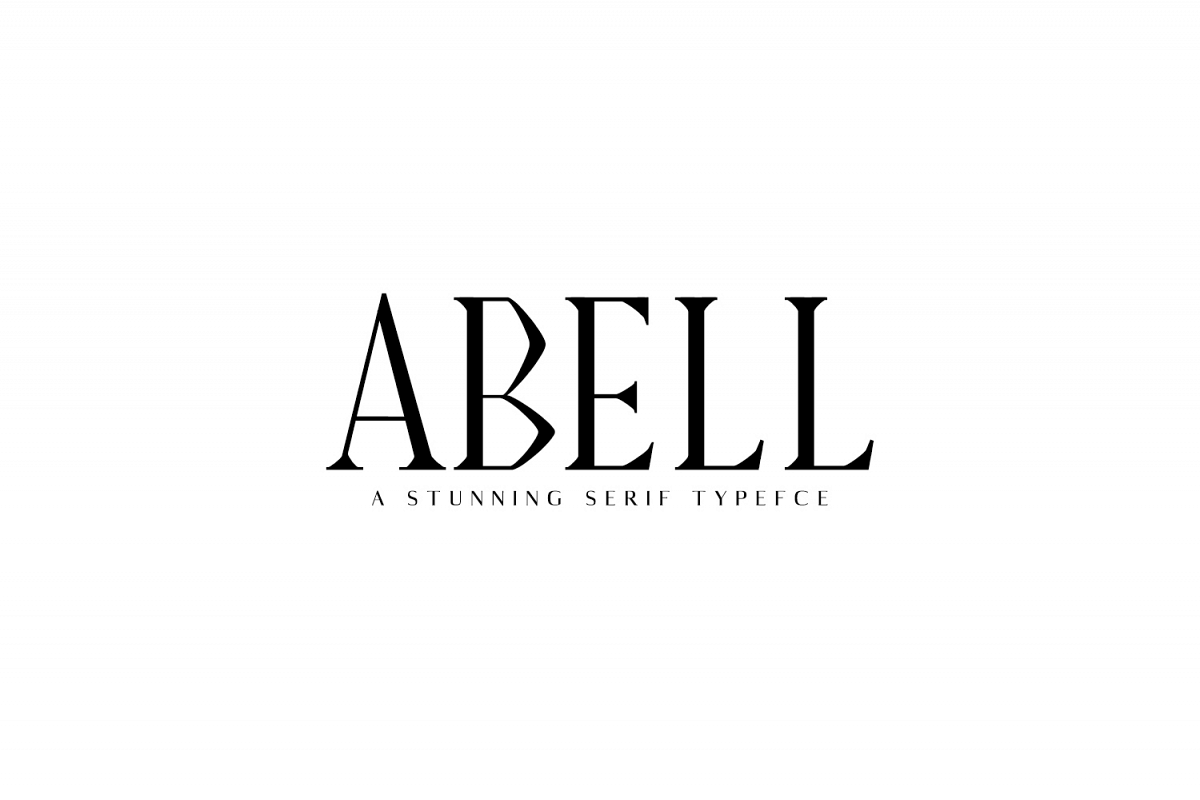 Abell Serif Font Family Pack example image 1