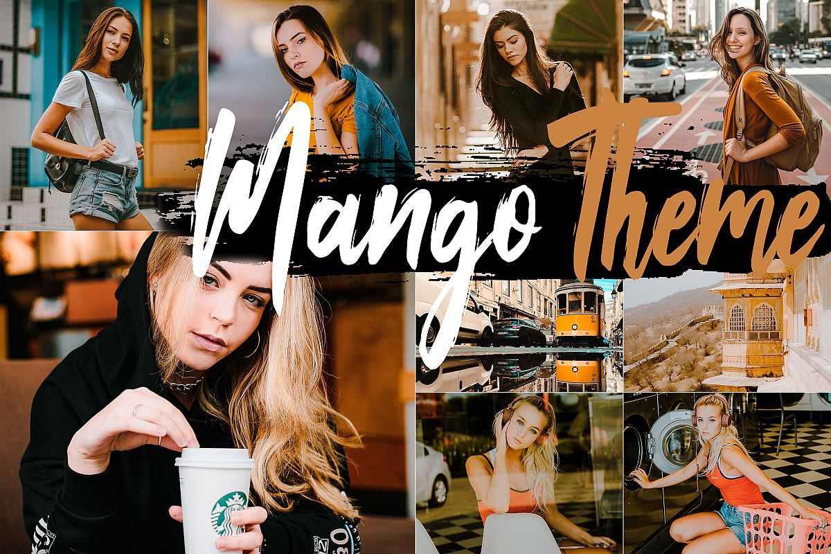 Neo Mango Theme Desktop Lightroom Presets example image 1