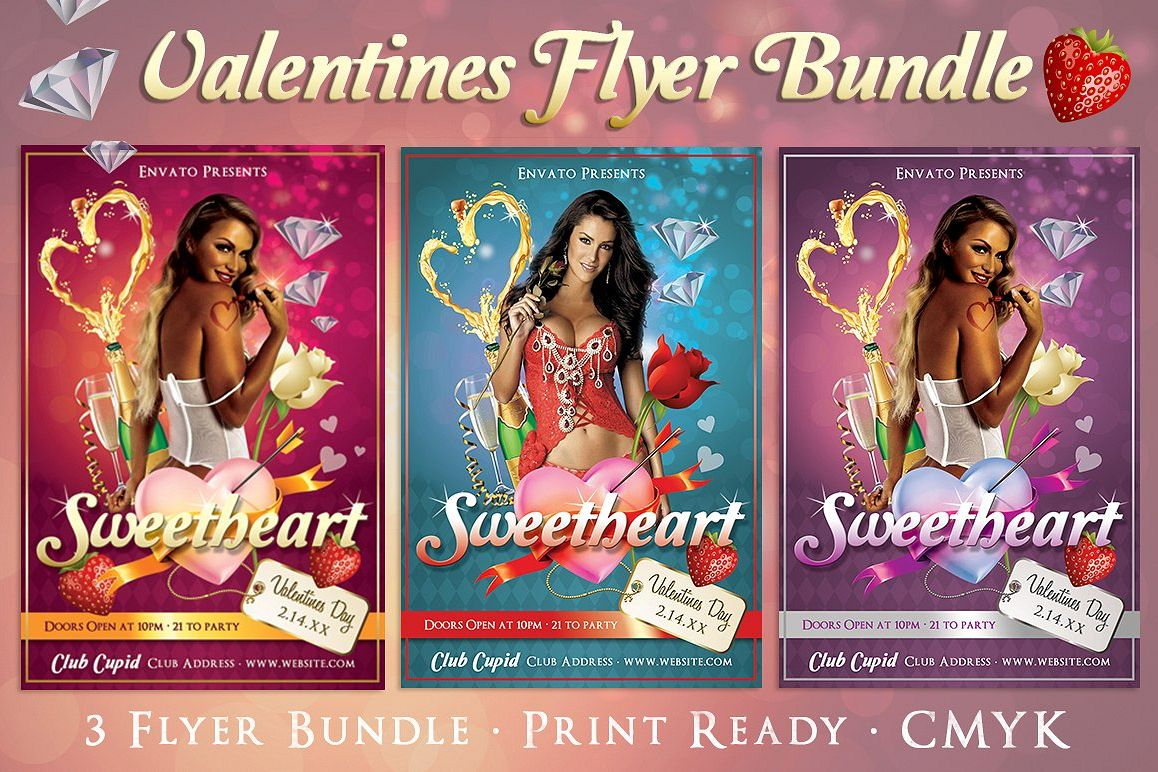 Sweetheart Valentines Flyer example image 1