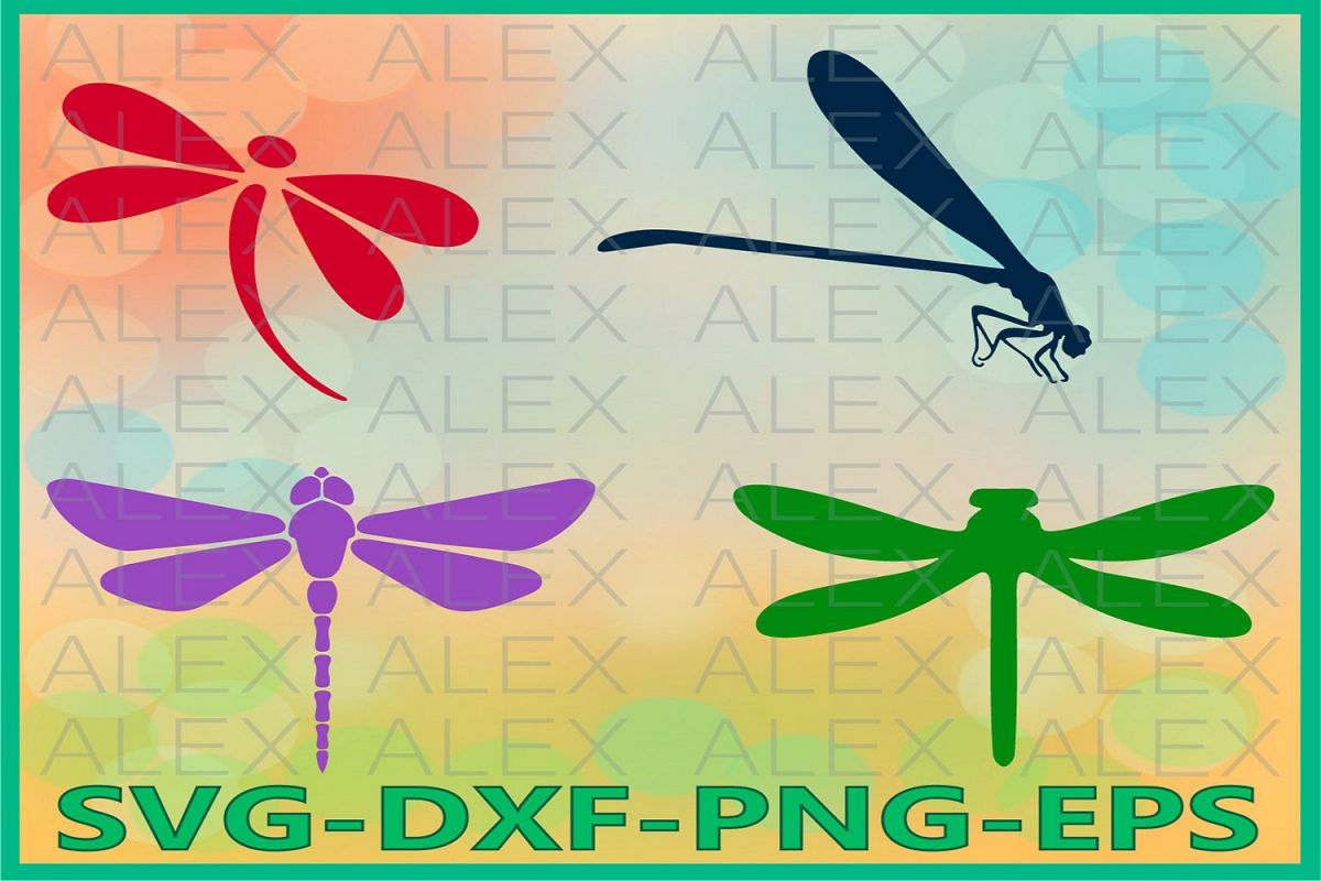 Dragonfly svg, Dragonflies SVG, Dragonfly Silhouette, Insect example image 1