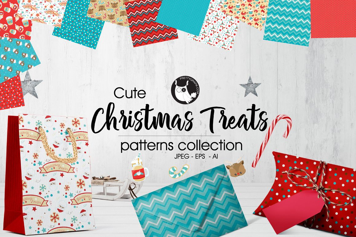 CHRISTMAS-TREATS , digital papers example image 1