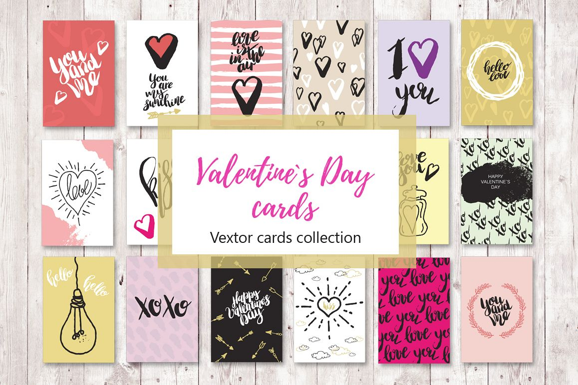 Set of 18 love greeting cards by evgeni design bundles set of 18 love greeting cards example image m4hsunfo