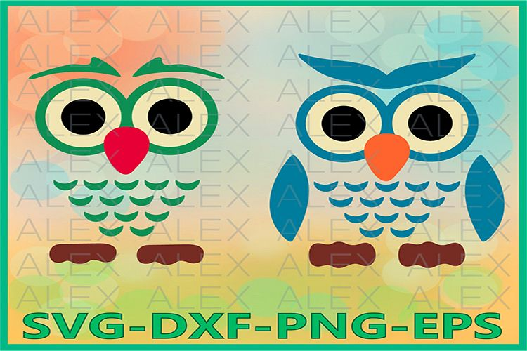 Owl Svg, Owl Face Svg, Owl Cut Out, Owl Clipart example image 1