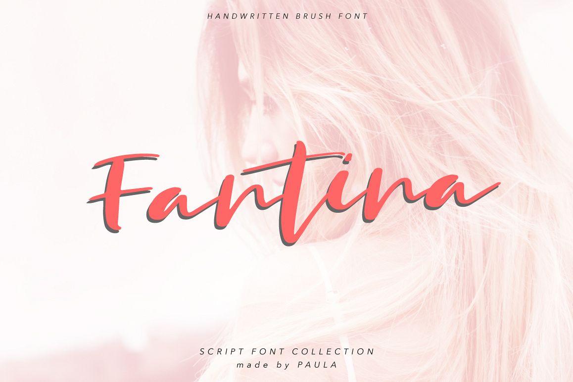 Fantina Script Font example image 1
