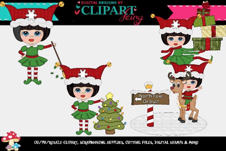 Christmas Elf Girls 3 example image 1