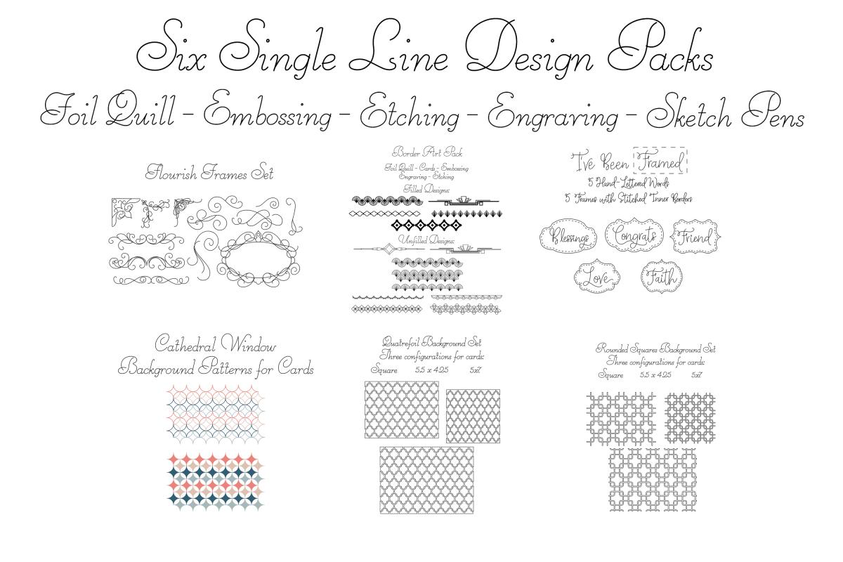 Borders, Backgrounds, and Flourishes Mega SVG Design Pack