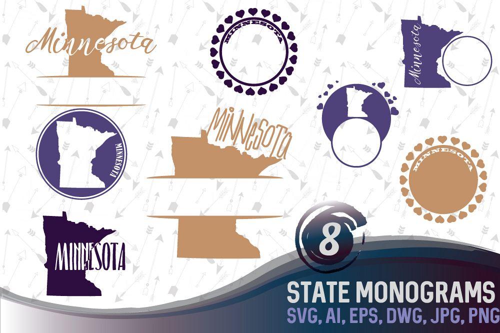 Minnesota Monograms SVG, JPG, PNG, DWG, CDR, EPS, AI example image 1
