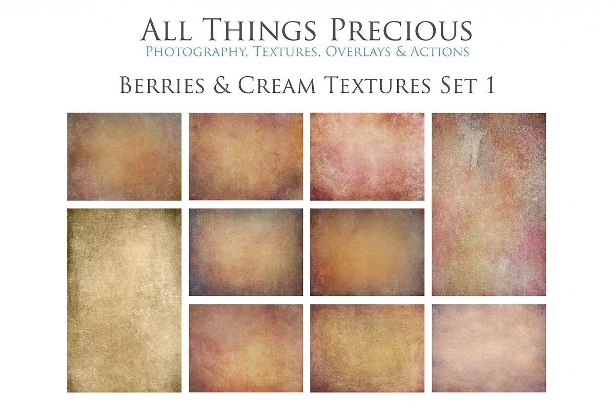 10 Fine Art BERRIES & CREAM Textures SET 1 example image 1