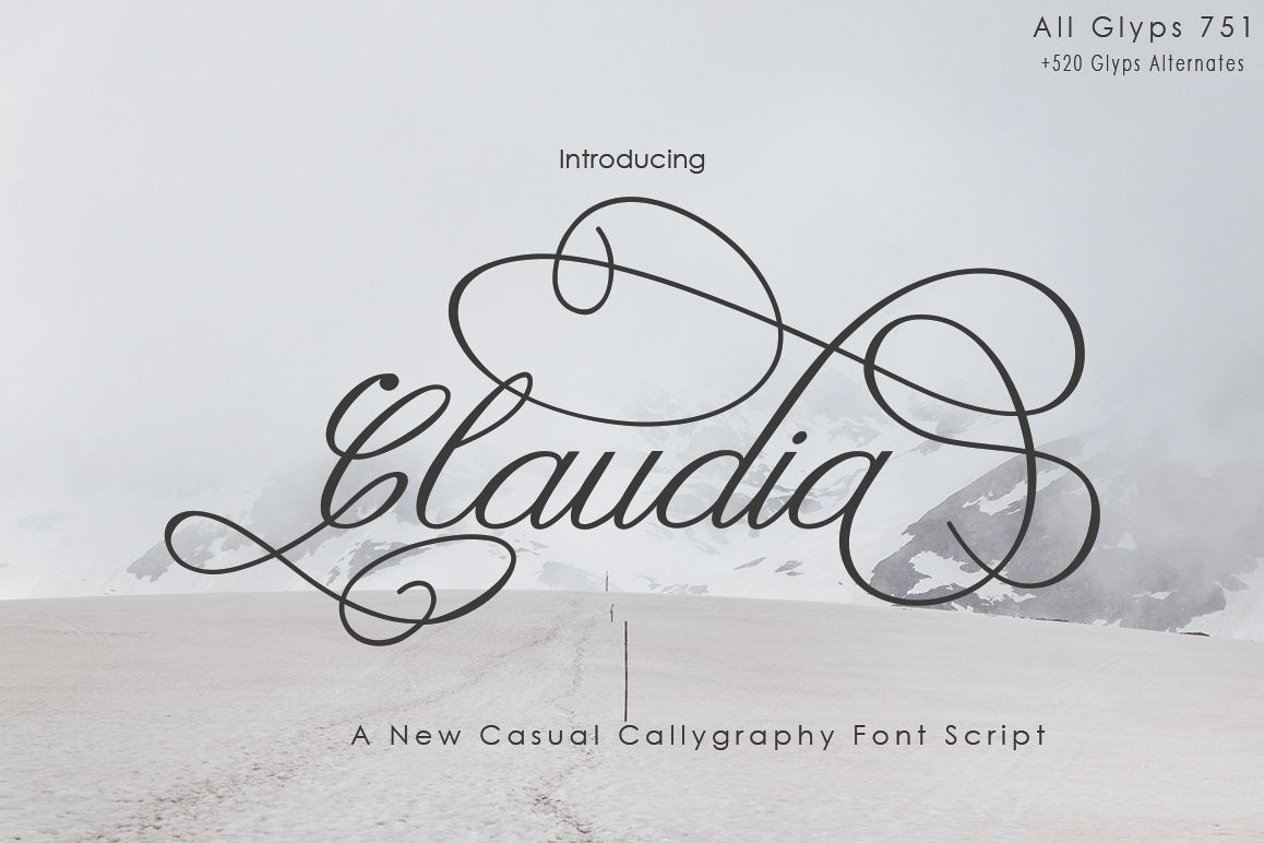 Claudia Calligraphy example image 1