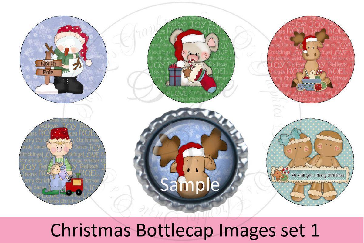 Christmas Bottlecap Images set 1, Labels example image 1