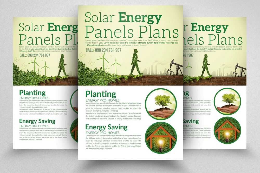 Renewable Energy - Go Green Flyer example image 1