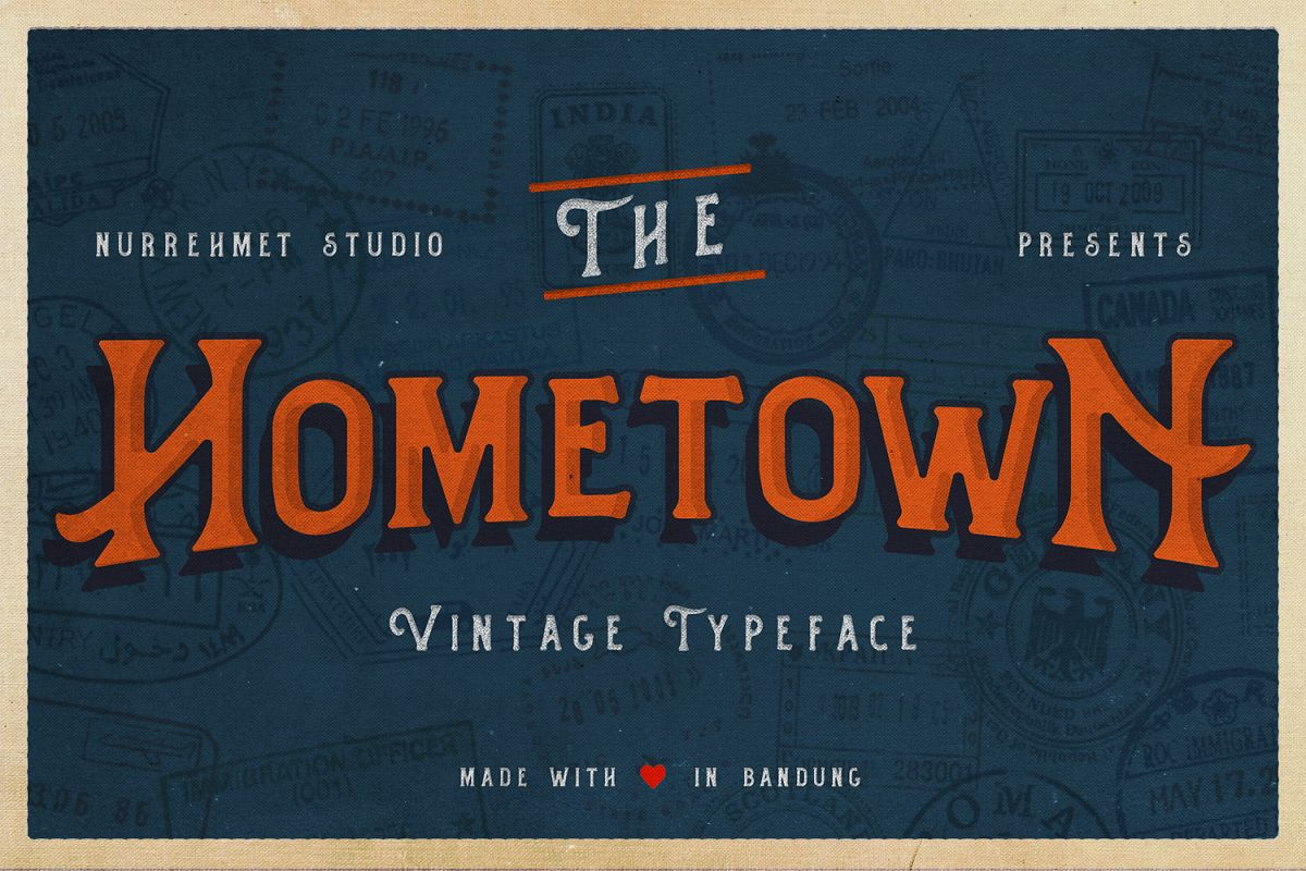 Hometown Vintage Typeface example image 1