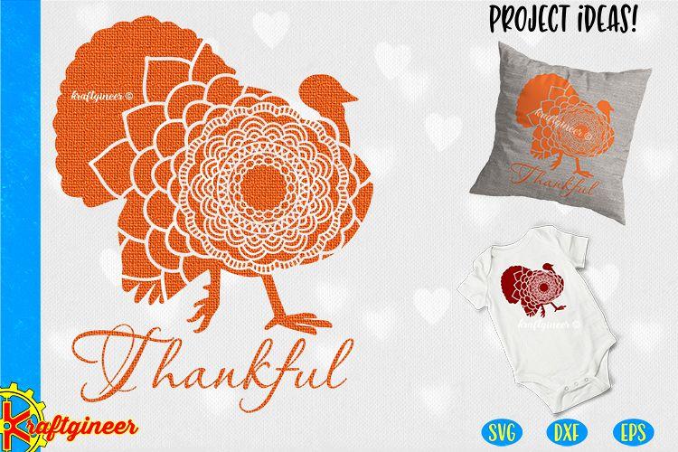 Mandala Turkey SVG | Single Line SVG |Foil Quill example image 1
