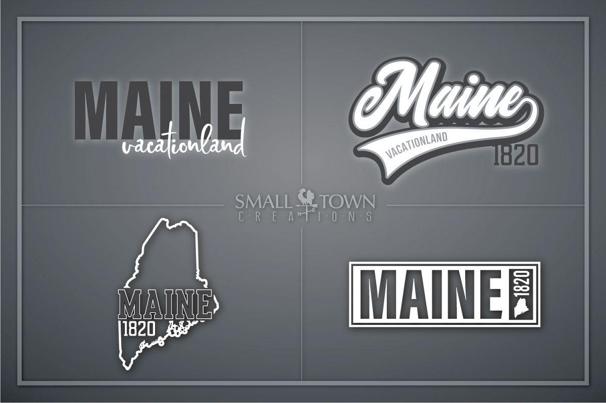Maine, Vacationland - slogan, Logo, PRINT, CUT & DESIGN example image 1