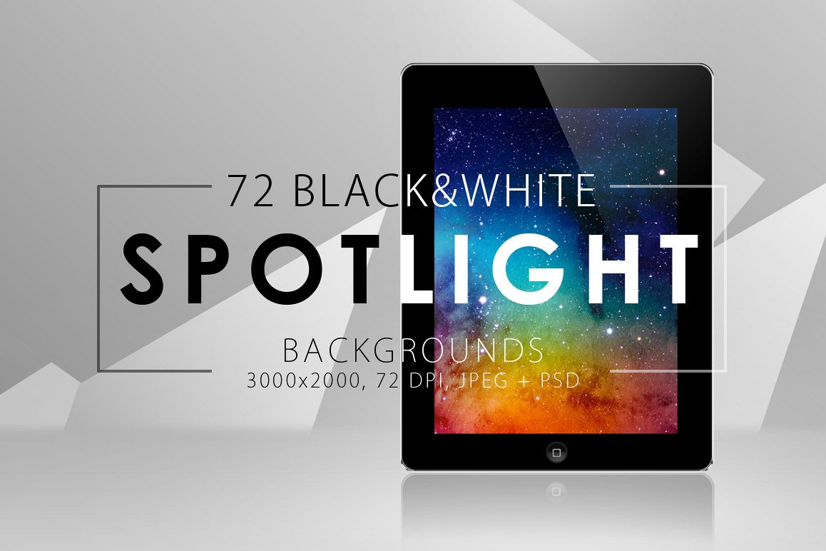 50%OFF 72 Spotlight Backgrounds Pack example image 1