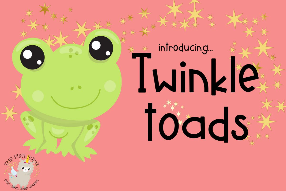 Twinkle Toads Font example image 1