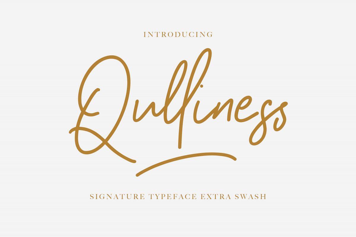 Qulliness Signature Font example image 1