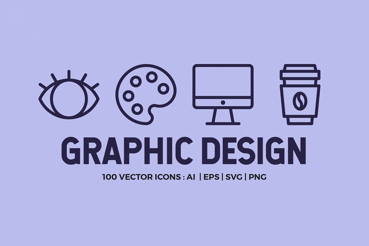 100 Graphic Design | Line Icons example image 1