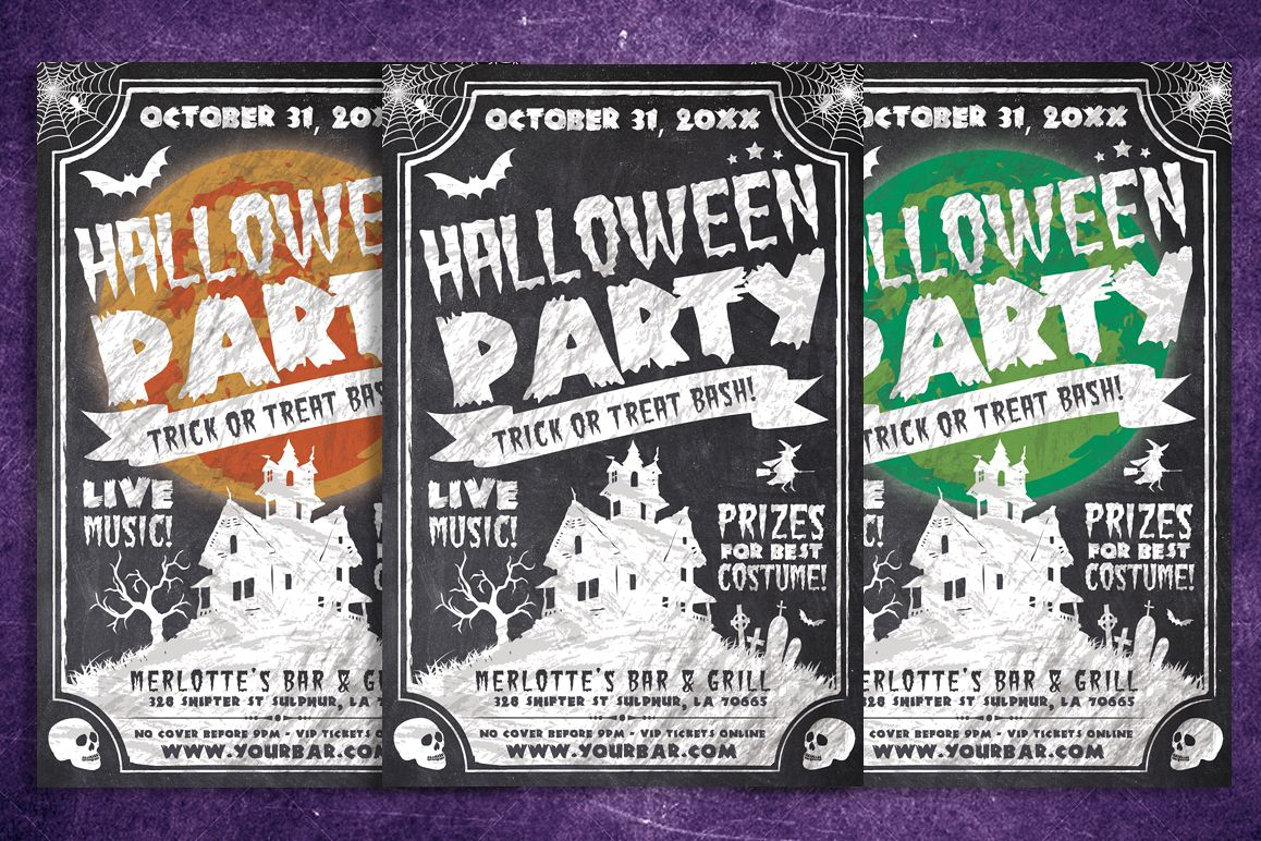 Chalk Halloween Flyer example image 1
