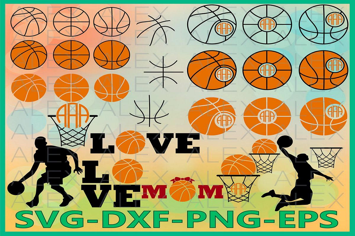 Basketball Monogram Svg, Basketball SVG, Basketball Love SVG example image 1