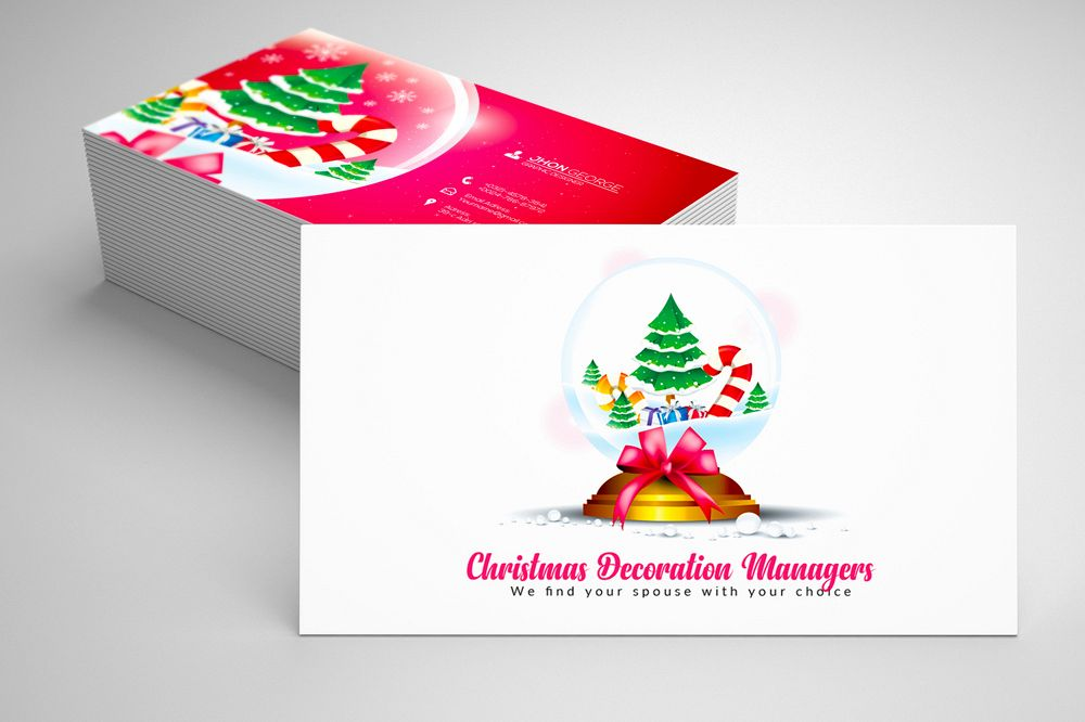 Christmas Decorator's Business Card example image 1
