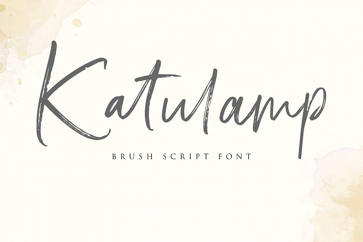 Katulamp Font Duo example image 1