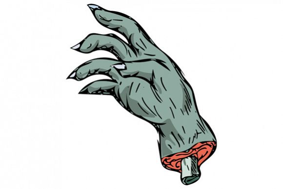 Zombie Monster Hand Drawing example image 1