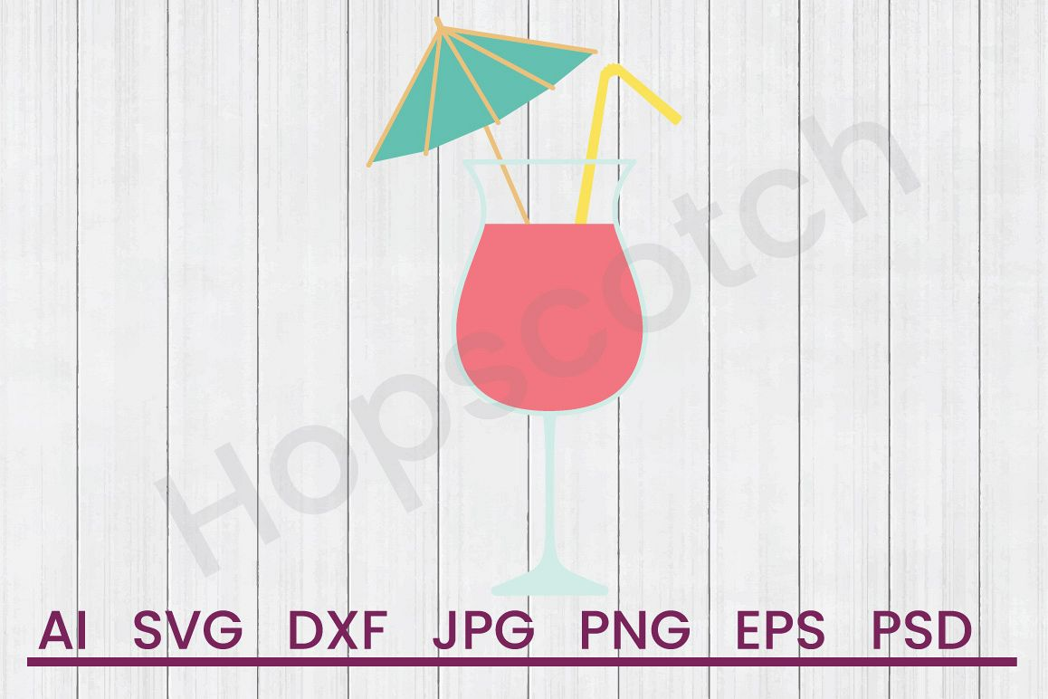 Summer Drink SVG, DXF File, Cuttatable File example image 1