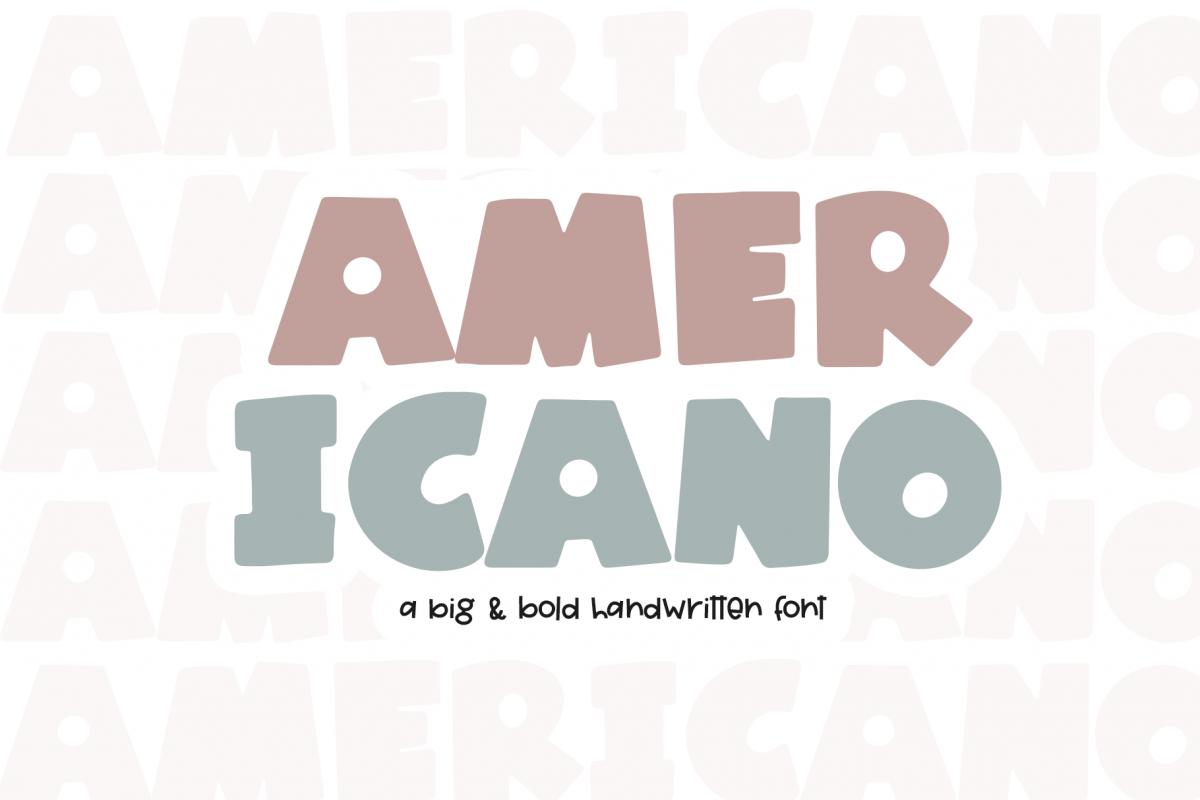 Americano - A Fun Handwritten Font example image 1