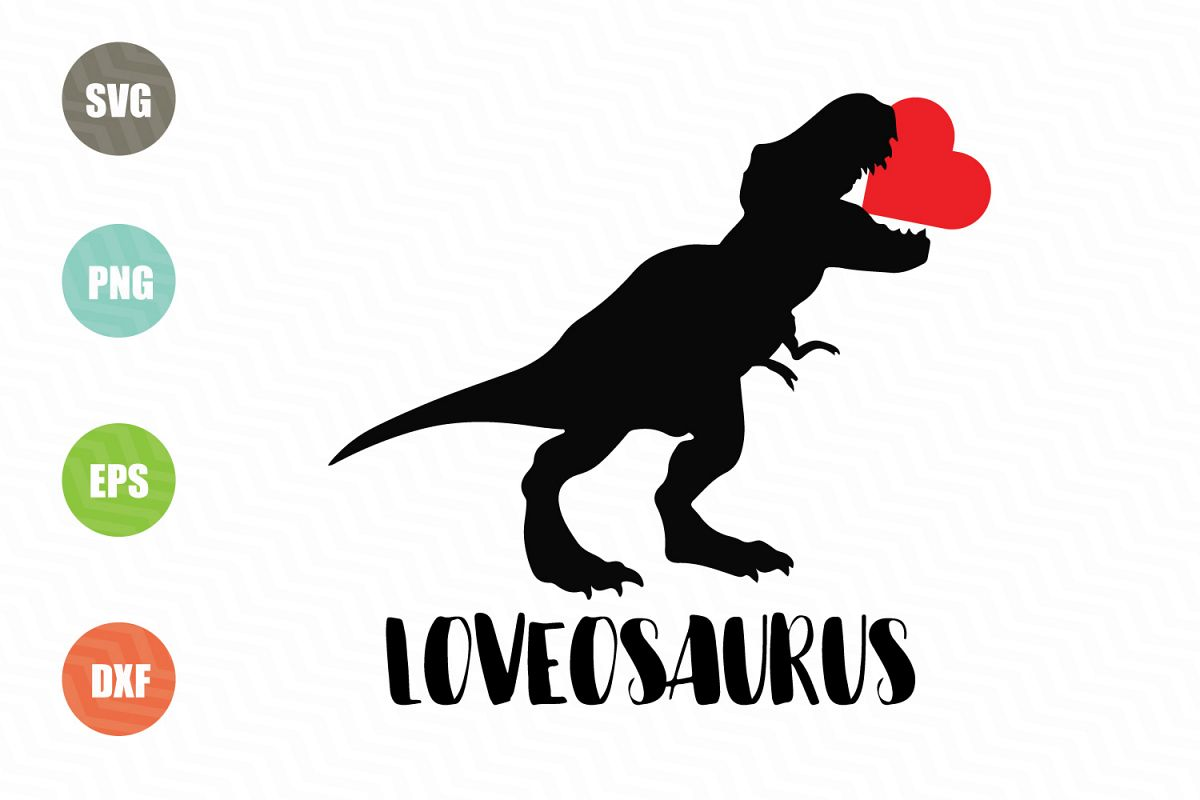 Dinosaur Svg, Valentine Svg File example image 1