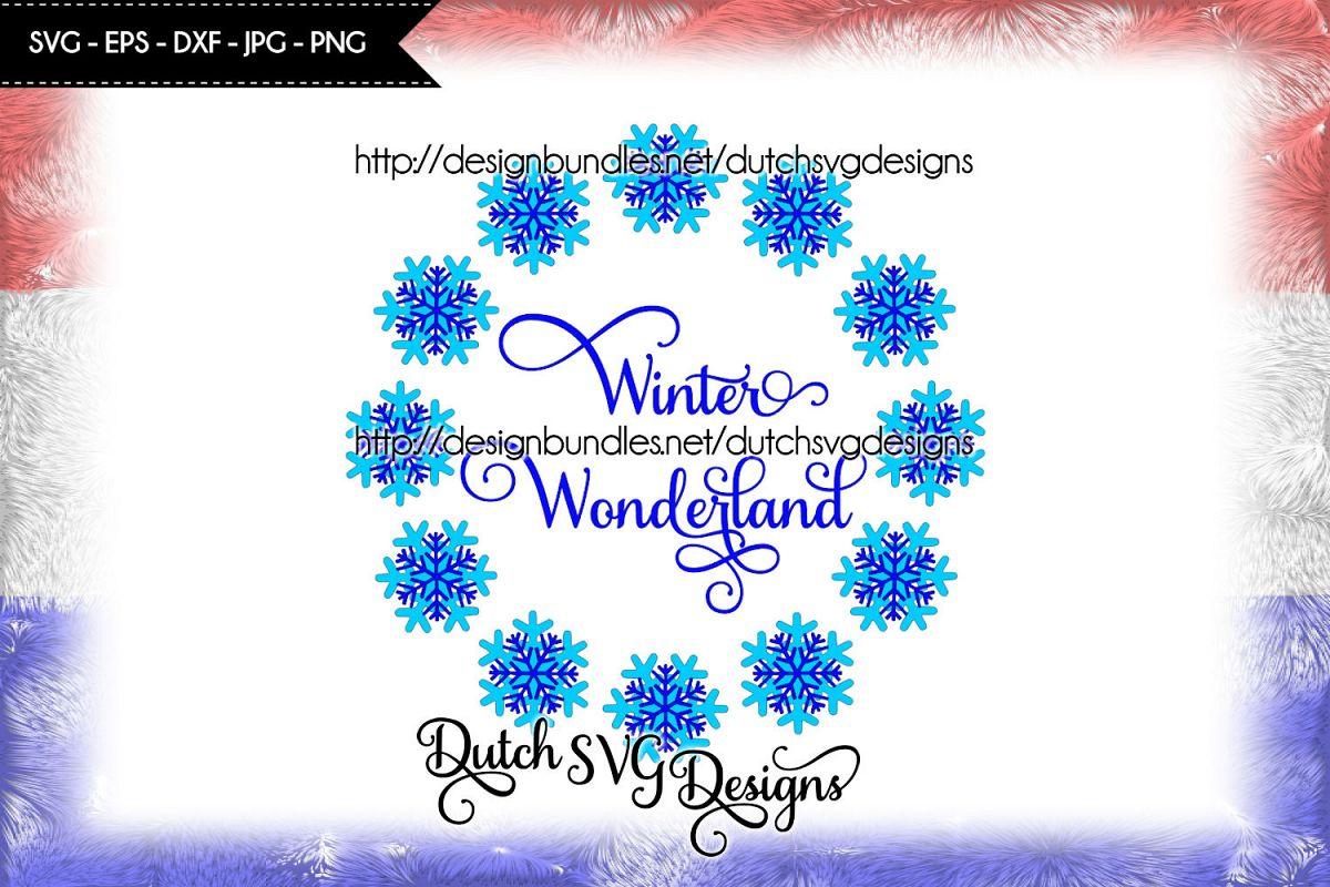 Winter Wonderland cut file, Winter Wonderland svg example image 1