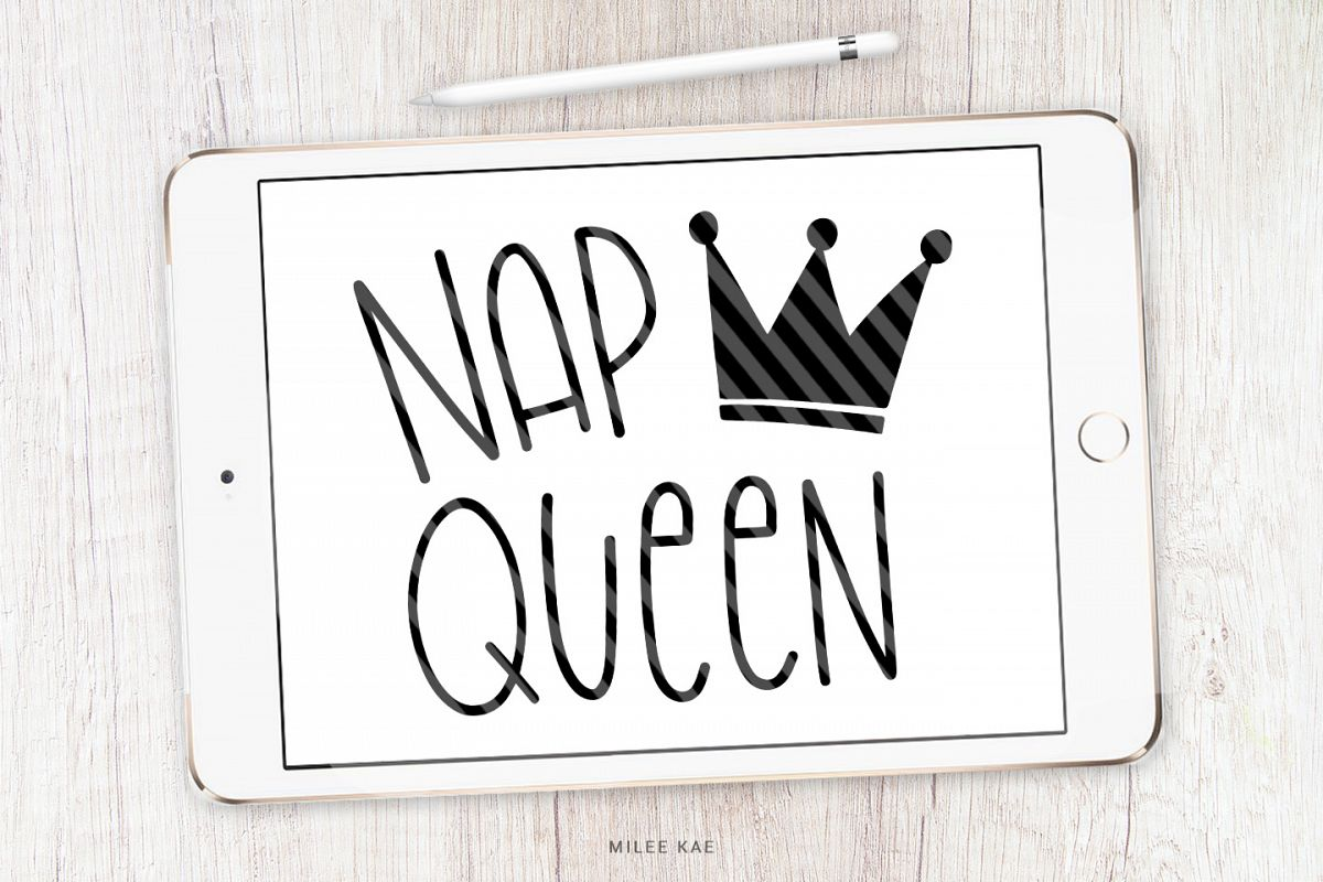Nap Queen SVG, Cutting file, Decal example image 1