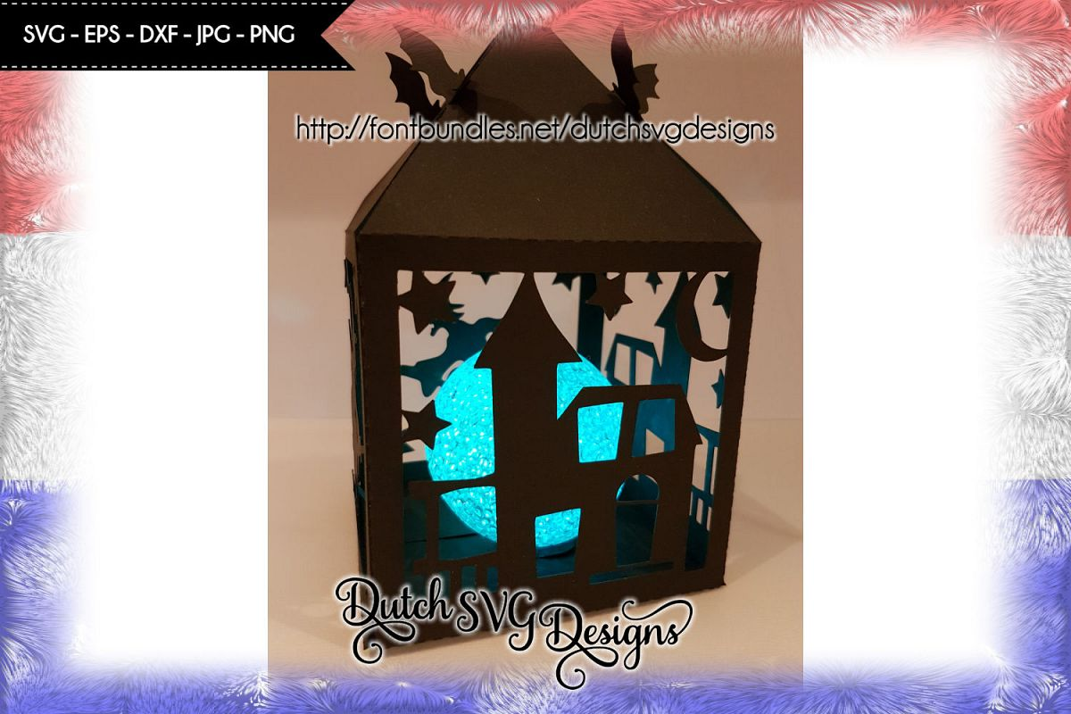 Halloween lantern cutting file, halloween lantern svg example image 1