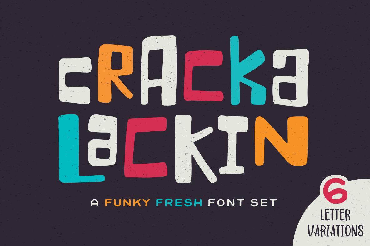 Crackalackin Font Set example image 1
