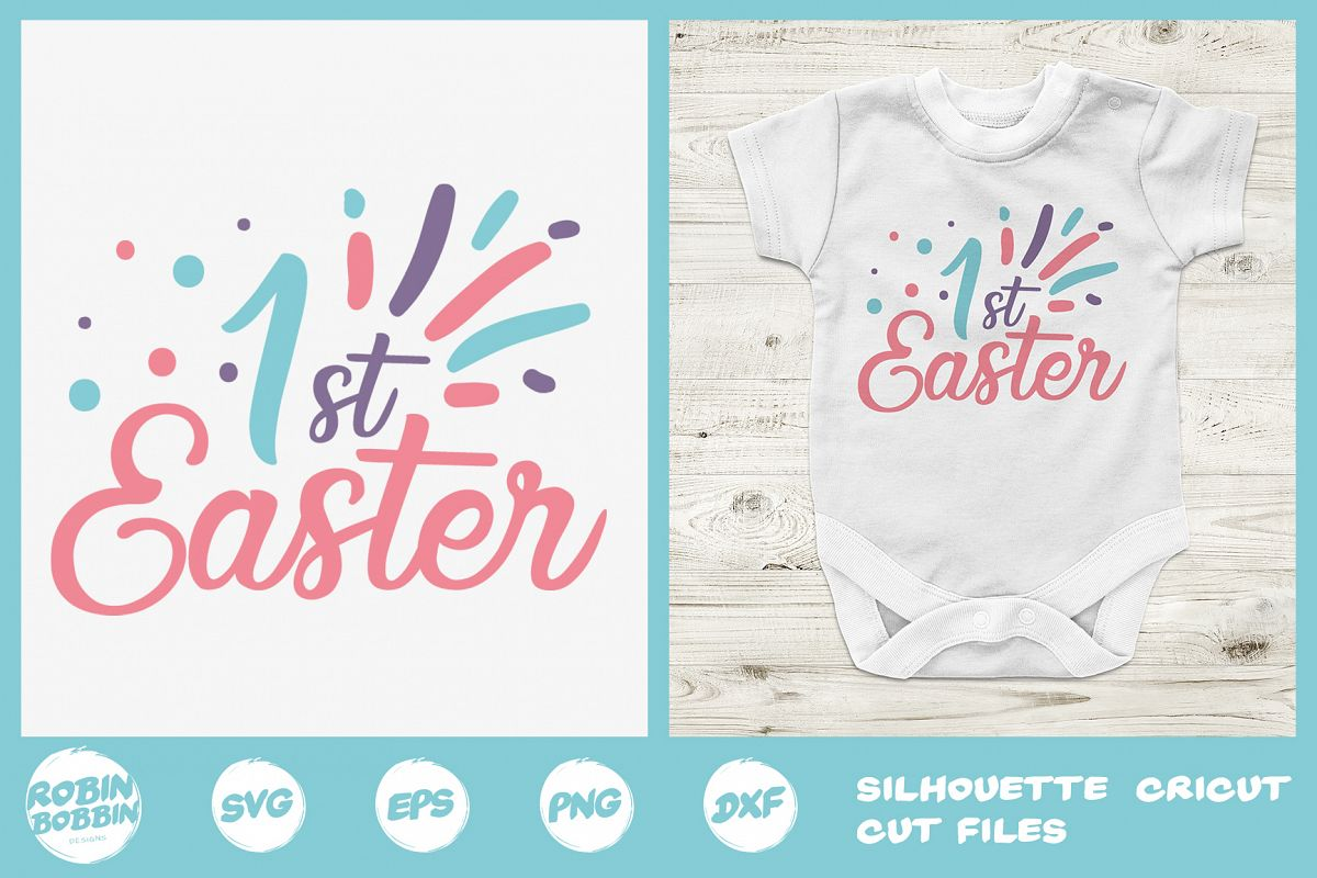 Easter svg, First Easter SVG File, First Easter SVG Crafts example image 1