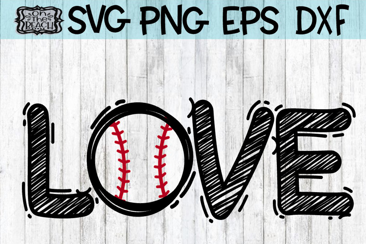 Download Love Baseball Svg Dxf Eps Png