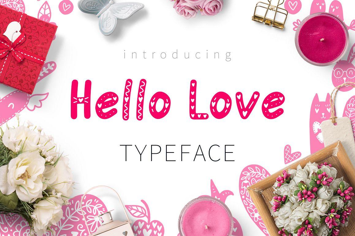 Hello Love - Valentine's Day Font example image 1