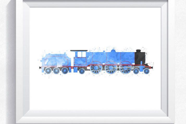 Thomas the train inspired train wall art, Gordon printable, Gordon ...