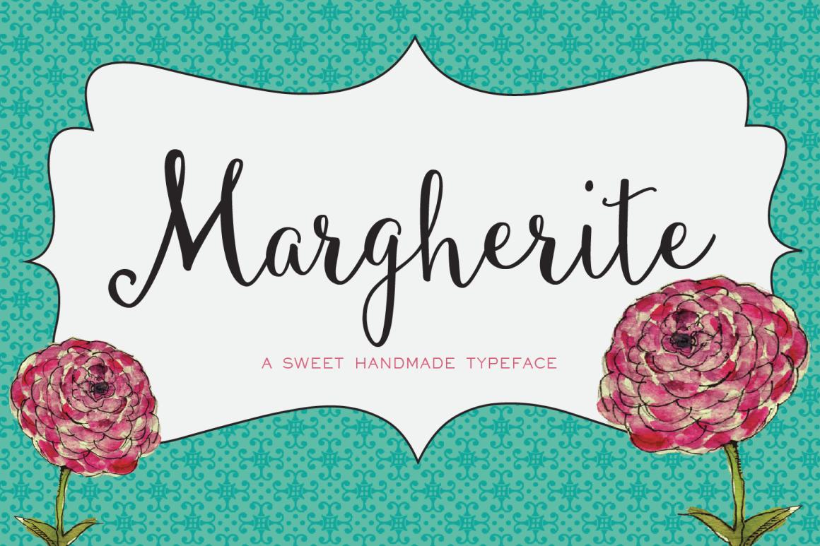 Margherite Script + Bonus Frames example image 1