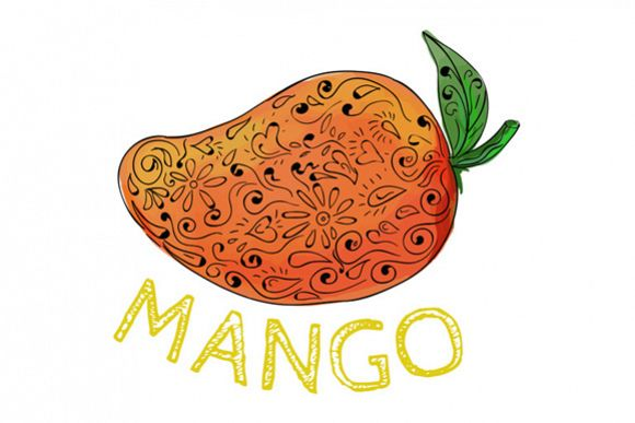 Mango Juicy Fruit Mandala example image 1