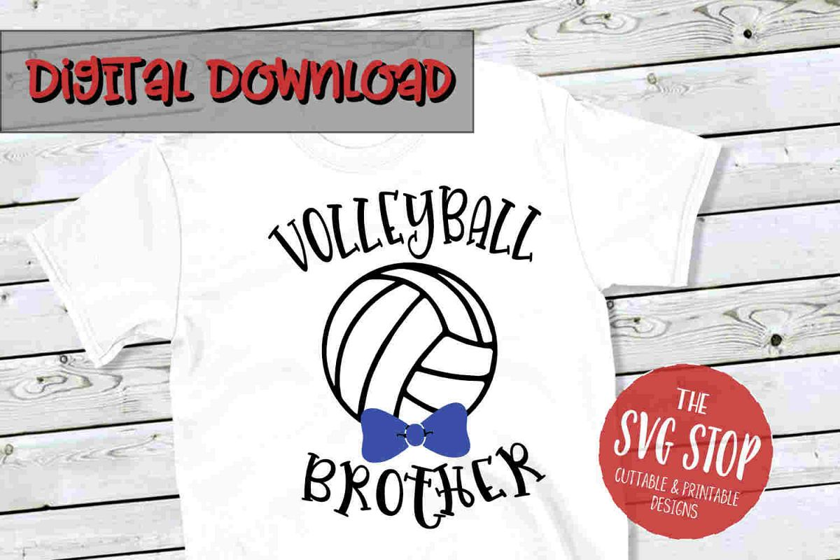 Volleyball Brother SVG PNG DXF example image 1